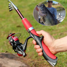 Telescopic Fishing Rod and Reel Combo 1.4M Fishing Rod & Spinning Reel JM200