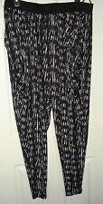 Nordstrom City Chic Black White Harem Flatliner Pants Plus Size L (20W) 2X NWT