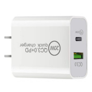 20W PD Power Adapter USB QC 3.0 Fast Wall Charger For iPhone Samsung LG Android