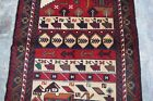 Pictorial Afghan hand made war rug (war field concept against soviet union)
