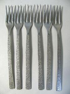 Viners Studio. Set of Six Table Forks. 20.5cms. Gerald Benney Design.