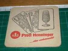 sottobicchiere beer mats birra bierdeckel prost henninger hb