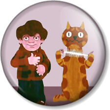 Charley Says 25mm Pin Button Badge Cartoon Charlie Retro Public Information TV