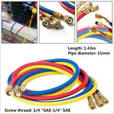 """1/4""""SAE Manifold Gauge HVAC AC Refrigerant Charging Hoses For R12/R134A/410A/502"""