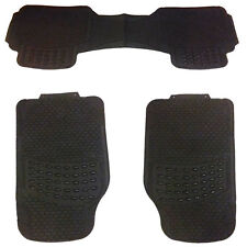 3 Piece Heavy Duty Front & Rear Waterproof Black Rubber Kia Car Floor Mats Set