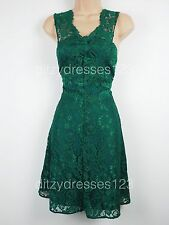 BNWT V by Very Emerald Green Lace Dress Size 16 RRP £74