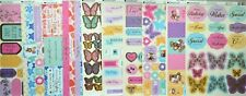 10 x A4 Sheets KANBAN Foiled & Embossed Assorted Tags, Banners & Borders NEW