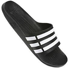 adidas Duramo Slide Adilette Bath Sandals Sandal Slippers Black G15890 UK 10