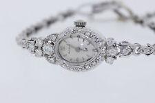 Antique Bulova 14k White Gold .75ct Round Diamond (G, SI1) Dress Watch  *WORKING