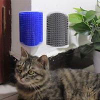 PET CAT GROOMING BRUSH SELF GROOMER CORNER WALL CAT MASSAGE WITH CATNIP