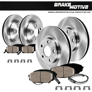 Front & Rear OE Disc Brake Rotors & Ceramic Pads For Mercedes Benz E320 E350