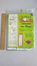 Paragon Embroidery Kit 0133 Disney BAMBI Growth Chart or Wall Hanging NIP