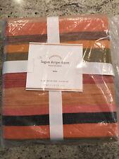 Pottery Barn Logan Multi Colored Striped Twin Duvet Cover