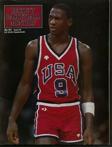 MICHAEL JORDAN BECKETT BASKETBALL MONTHLY COVER~MAY 1991 ISSUE #10 USA OLYMPICS