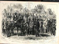 Guerre de l'Afghanistan Uniformes Costumes Armée Anglo-Indienne GRAVURE 1879