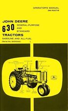 John Deere 630 Gas All Operators Manual 6300000 -Up Jd