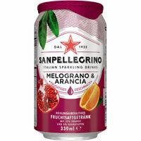 24 Dosen a 0,33l Sanpellegrino Melograno & Arancia inc. EINWEG Pfand Granatapfel