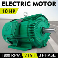 Electric E410215T Electric Motor 10HP 1800 Rpm 3PH 215T Frame