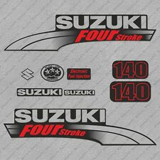 Suzuki 140HP Four Stroke Outboard Engine Decals Sticker Set reproduction 140 HP
