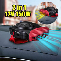 150W Car Ceramic 2in1 Heater Demister Cooler Dryer Fan Defroster Portable Red