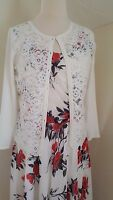 New Jacques Vert cardigan Size 14/16 White Lace BNWT