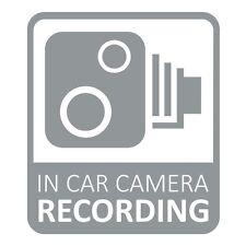 In Car CCTV Camera Recording Dash Cam Car Van Window Bumper Sticker Decal Grey