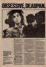 Nick Cave The Birthday Party Interview NME Cutting 1982