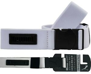 "Puma Ultralite Stretch Canvas Golf Belt - White - RRP£20 - Fits Up To W40"""