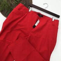 Talbots Womens Pants Heritage Red Ankle Crop Plus Size Petite 22WP