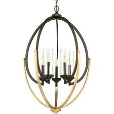 Progress Lighting Evoke 5-light Antique Bronze Chandelier w/ Clear Glass Shade