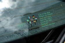 Fiat Punto 'Car of the Year 1995' rear tailgate sticker