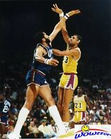 Kareem Abdul-Jabbar Lakers NBA Hologram 8x10 Color Glossy Photo #2 MINT Topload