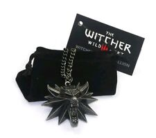 The Witcher Wild Hunt Wolf Medallion Amulet Talisman Necklace Pendant Charm Gift