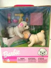 Mattel Barbie 67388 Twin Poodles Bobbing Heads Dogs Pups Bath Time New In Box