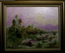Original Impressionist Landscape Oil Painting Florida Everglades