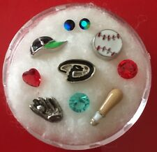 Floating Charm Set~*~ARIZONA DIAMONDBACKS Sports BASEBALL MLB~*~Living Lockets