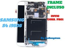 DISPLAY LCD+TOUCH SCREEN FRAME SAMSUNG GALAXY S4 GT i9505 VETRO TELAIO CORNICE