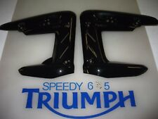 TRIUMPH STREET TRIPLE / R RADIATOR COWLS LEFT & RIGHT PHANTOM BLACK A9708114-PR