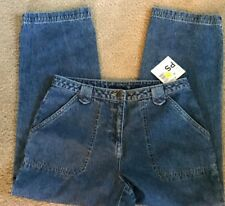 Crazy Horse Petite Blue Jeans Crop Pants 10P 4 Pocket Liz Claiborne Cotton