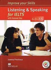 MACMILLAN Skills LISTENING & SPEAKING FOR IELTS 6.0-7.5 w Key+Audio CDs&MPO @New