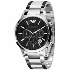 New Emporio Armani AR2434 Classic Men's Watch Stainless Steel - Black/Silver