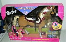 New listing 1998 BARBIE WALKING BEAUTY Horse That Blows Kisses & Neighs New In Box Working