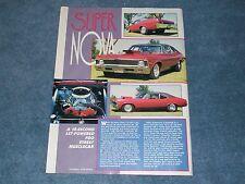 """1969 Chevy Nova Pro Street Drag Car Article """"Super Nova"""""""