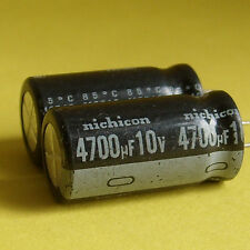 Nichicon 10V 4700uF LOW ESR Electrolyic Capacitor x 5PCS Japan New Free Shipment