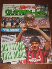 GUERIN SPORTIVO=N°19 1989=VAN BASTEN COVER=NAPOLI-STOCCARDA COPPA UEFA=KUBIK=EDU