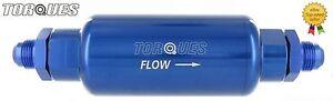 AN -6 (AN6 JIC6) Blue Billet High Flow Microglass Ethanol Fuel Filter 6 Micron