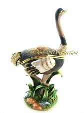 Ostrich Bejeweled Trinket Box