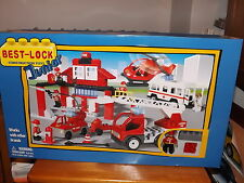 BEST-LOCK JUNIOR, FIRE RESCUE SET, VERY LARGE BOX, NEW IN BOX, 2010