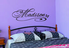 Personalized Girls Name Wall Decal Room Butterflies