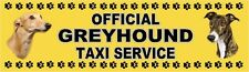 GREYHOUND OFFICIAL TAXI SERVICE Dog Car Sticker  By Starprint